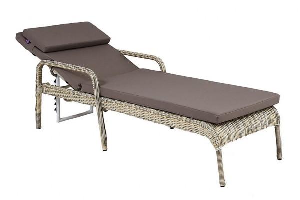 шезлонг Монако- мебель из ротанга